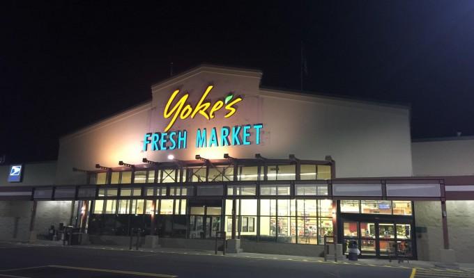 Yoke's Sprague & McDonald Store with Yoke's Logo
